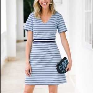 🆕Draper James V Neck Striped Persley Ponte Dress